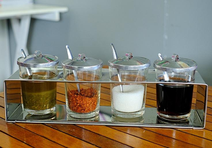Condiments at a noodle shop. (© Shutterstock)