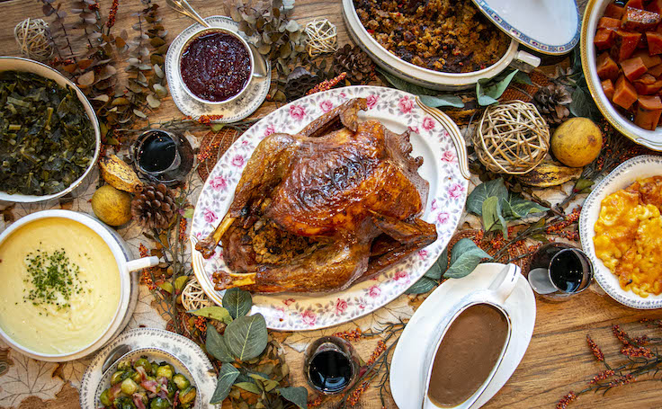 An All-American Thanksgiving feast at Virtue. Photo courtesy of Virtue Restaurant
