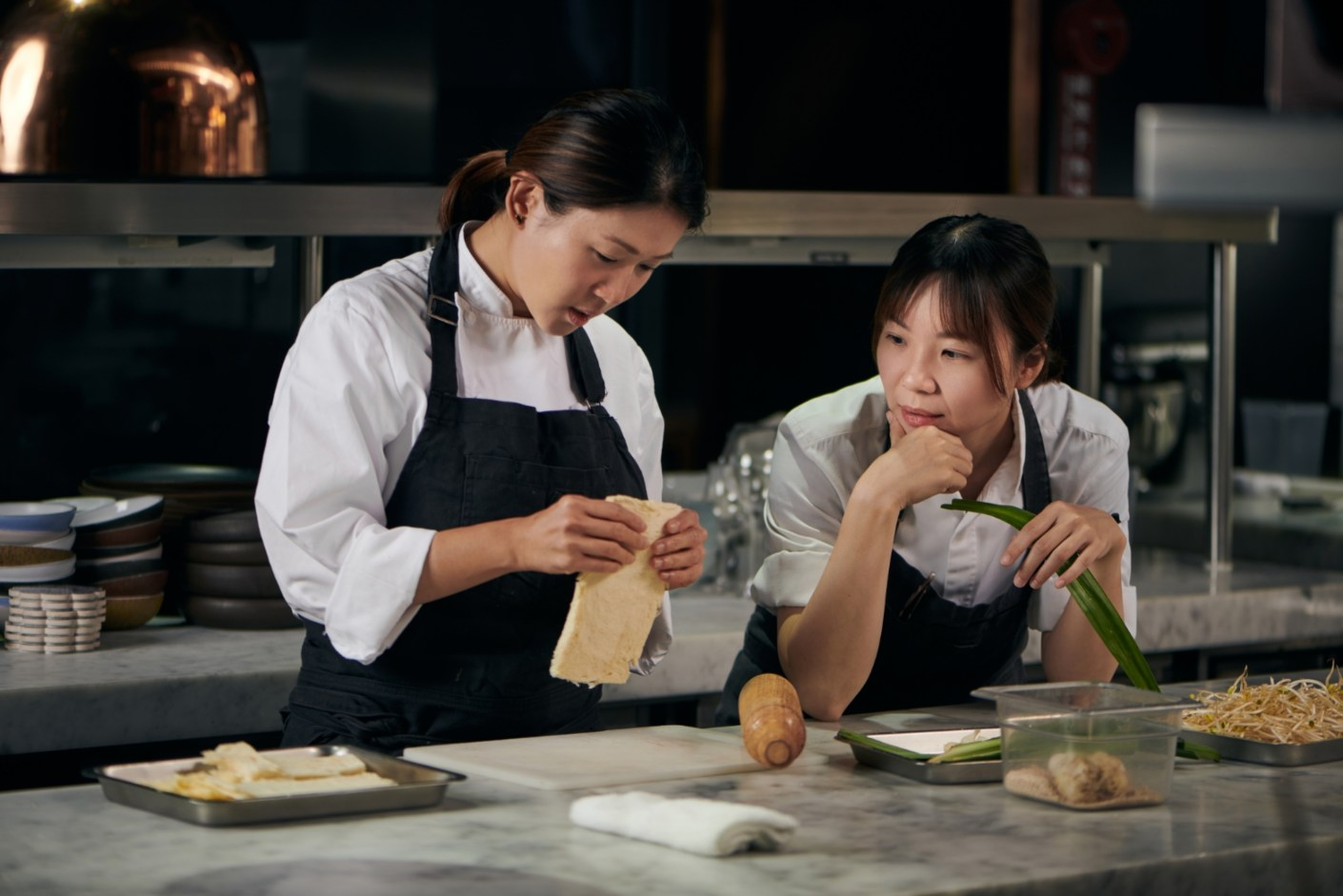 態芮甜點主廚 Angela 與 JL Studio 主廚 Una 是很有趣的對照,卻又密切契合。(圖片:JL Studio 與態芮提供)