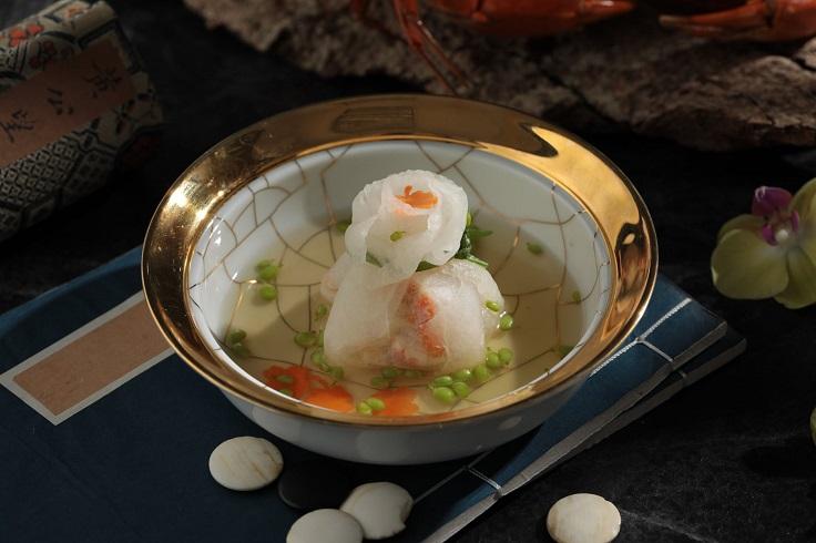 山海樓的「蟹黃花鈿琉璃瓜」。(圖片取自山海樓臉書)