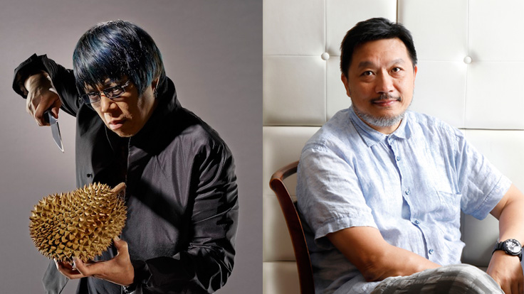 From left: Chef Alvin Leung of two-MICHELIN-starred Bo Innovation and restaurateur Danny Yip of The Chairman, a MICHELIN Plate restaurant