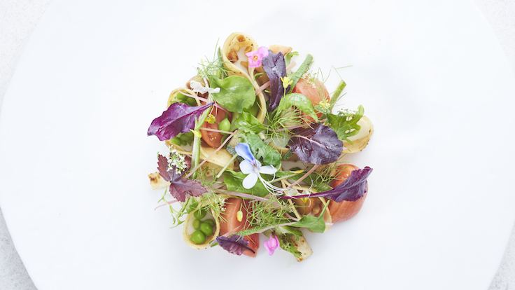 A signature dish, Promenade A Singapour celebrates a sense of place with the use of herbs from local farm, Pocket Greens. (Photo & Banner Photo: Odette)