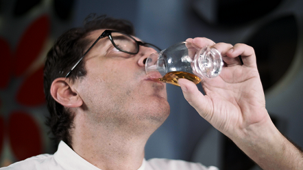 Chef Roberto Galetti enjoys the silky flavours of The Balvenie 21 Year Old PortWood