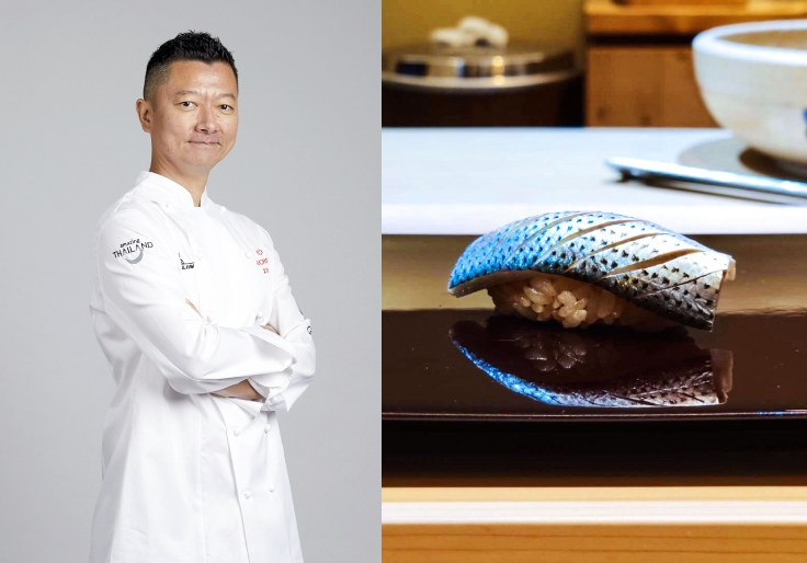 Chef Masato serves ingredients sourced from Japan at the intimate chef's table housed on a quiet lane in Bangkok. (© MICHELIN Guide Thailand / Sushi Masato)