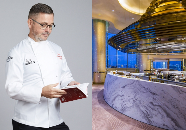 Chef Vincent Thierry from the Loire Valley serves French cuisine with a modern touch at Chef's Table (© MICHELIN Guide Thailand / Chef's Table)