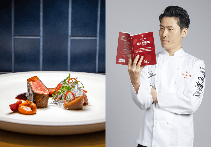 Chef Dan Bark of Cadence brings together Western and Asian cuisine (© Cadence by Dan Bark / MICHELIN Guide Thailand)
