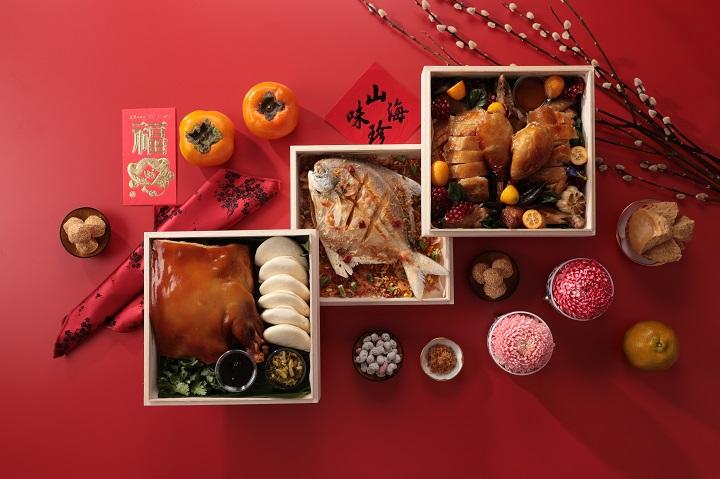 一星餐廳山海樓在七月推出山海珍寶盒,三個月創造出百萬業績後,為明年農曆年推出可免除一般人準備三牲麻煩的「祈福拜拜禮」。(圖片:山海樓提供)