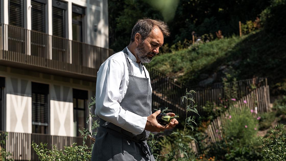 Le chef Christophe Aribert, Étoile Verte 2020 ©DR