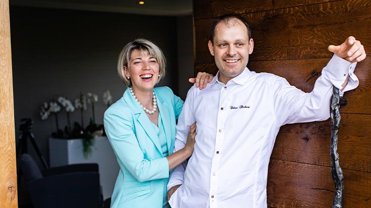 Christelle et Cédric Deckert, restaurant La Merise à Laubach ©Maxime Mentzer/La Merise