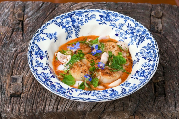 A dish served at The House by Ginger. (© Tina Hsiao / MICHELIN Guide Thailand)
