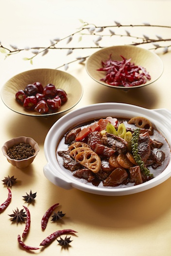 Stewed mala beef brisket and tendon in claypot.jpg