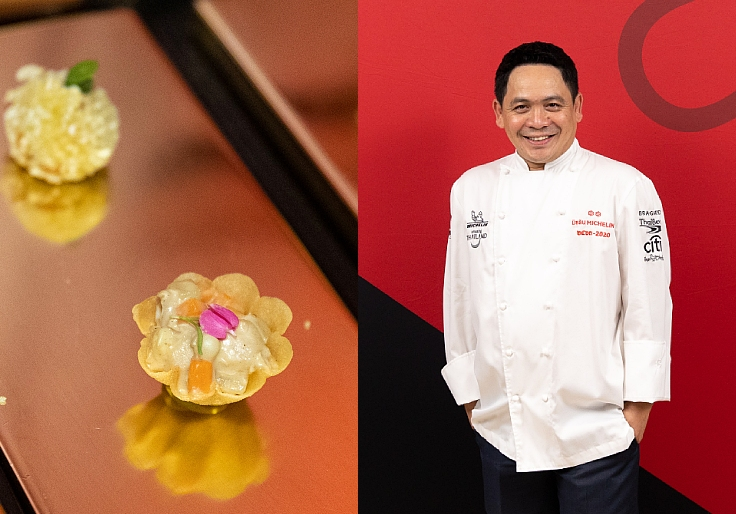 French and Thai techniques in one bite. (© MICHELIN Guide Thailand)