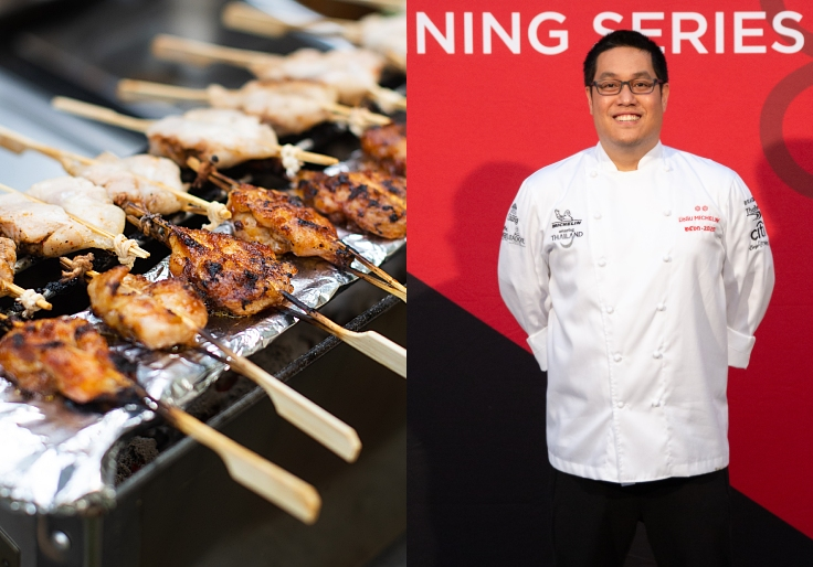 Southern style chicken fresh from the grill, anyone? (© MICHELIN Guide Thailand)