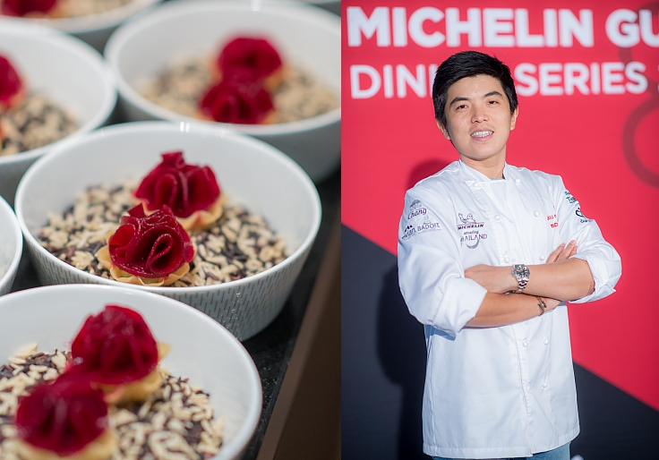 Chef Ton's version of Kratong Thong. (© MICHELIN Guide Thailand)