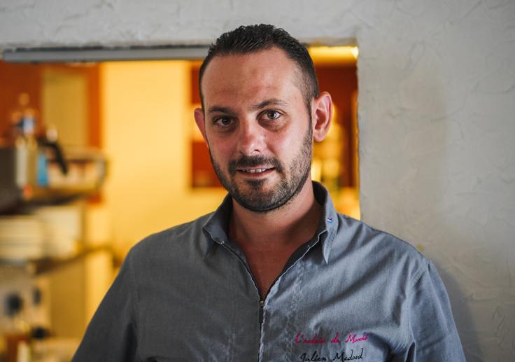 Julien Médard, le chef de l'Ardoise du marché © AD2T