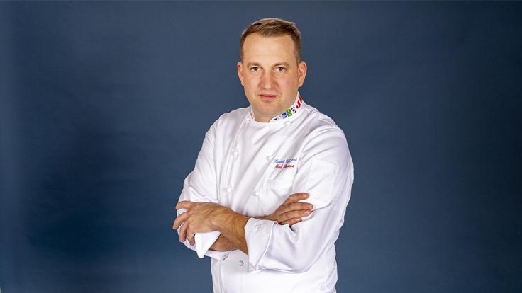 Benoît Charvet, pâtissier du restaurant Paul Bocuse © Pascal Curtil