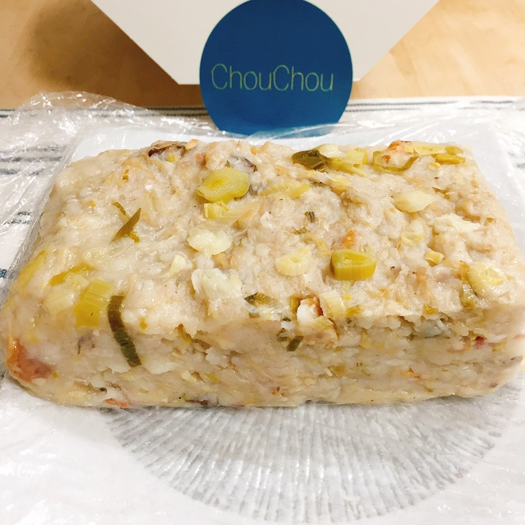 大廚林明健每年自製充滿家味的蘿蔔糕,只送不賣。(圖片:林明健提供)