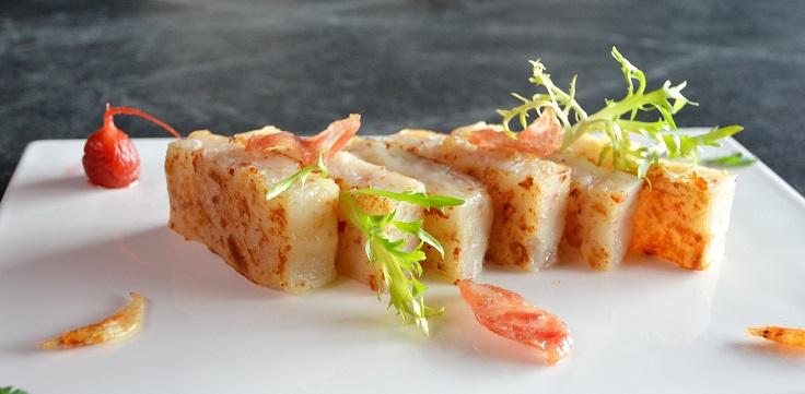 三星餐廳頤宮主廚陳泰榮所做的蘿蔔糕,希望回歸最初的純粹。(圖片:頤宮提供)