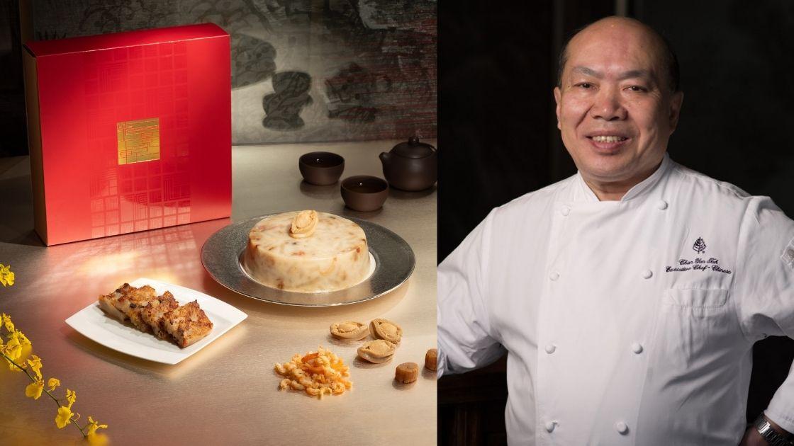 左起:米芝蓮三星「龍景軒」的蘿蔔糕、大廚陳恩德