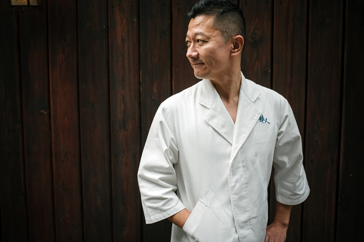 Chef Masato Shimizu of One MICHELIN Starred Sushi Masato. (© Anuwat Senivansa Na Ayudhya / MICHELIN Guide Thailand)