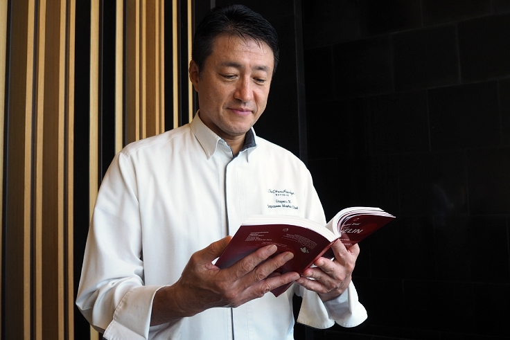 Hagiwara, who leads MICHELIN Plate awarded Yamazato. (© Yamazato)