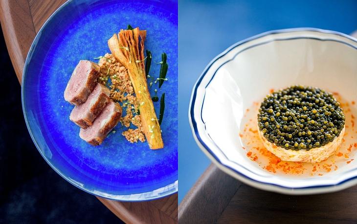 อาหารฝรั่งเศสยุคใหม่ในสไตล์ของเจ้าพ่ออาหารฝรั่งเศส อะแล็ง ดูกาส (© Blue by Alain Ducasse)