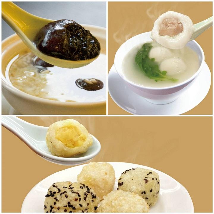 今年點水樓再推出鹹湯圓、炸元宵,加上菜單原來就有的紫米酒釀湯圓,消費者要鹹或甜,要炸或煮,都可以有好選擇。(圖片:點水樓提供)