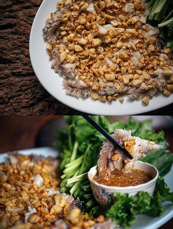 อาหารจากความพรีเมียมในแบบของเรือศรีพลฯ ที่สื่อถึงการรู้จัก เข้าใจในวัตถุดิบและฤดูกาลของท้องทะเล รวมถึงชุมชนประมงพื้นถิ่นทั้งฝั่งอันดามันและอ่าวไทย (© อนุวัฒ เสนีวงศ์ ณ อยุธยา / MICHELIN Guide Thailand)