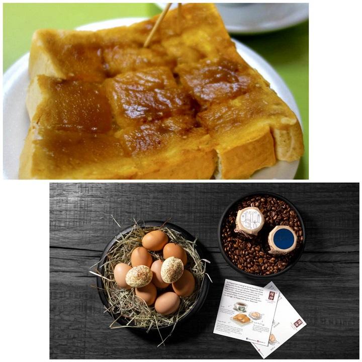 新加坡米其林餐盘推荐餐馆五十年代的咖椰吐司(上图)和 JL Studio 的 Yaw Kun。