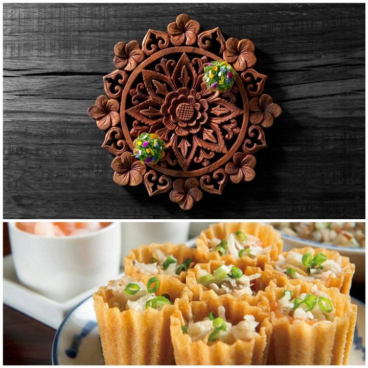 新加坡餐盘推荐餐館 Indocafe- The White House 的金杯粿(下图)以及台湾 JL Studio 的版本。