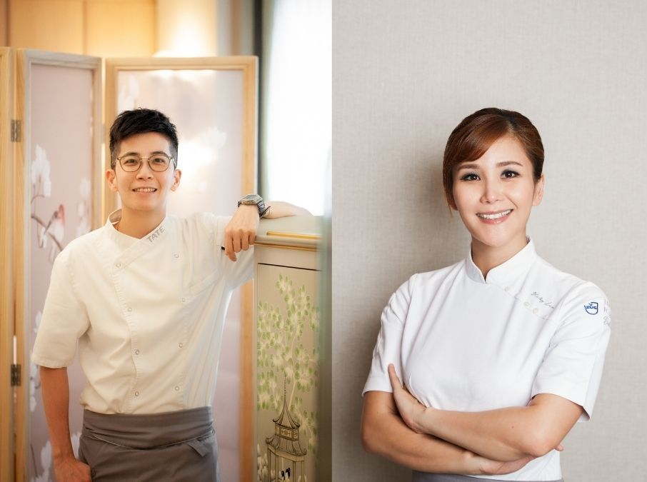 左起:Tate 的糕點主廚勞嘉雯(Nocar)、主廚兼老闆劉韻棋(Vicky)