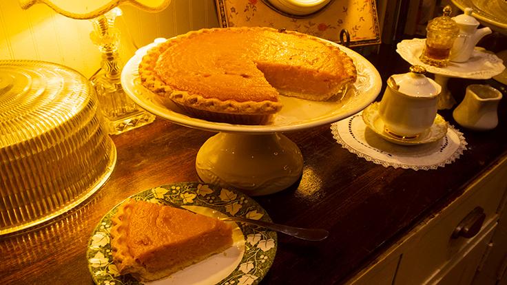 Melba's sweetpotato pie. Photo by Adrian Buckmaster, courtesy of Melba's