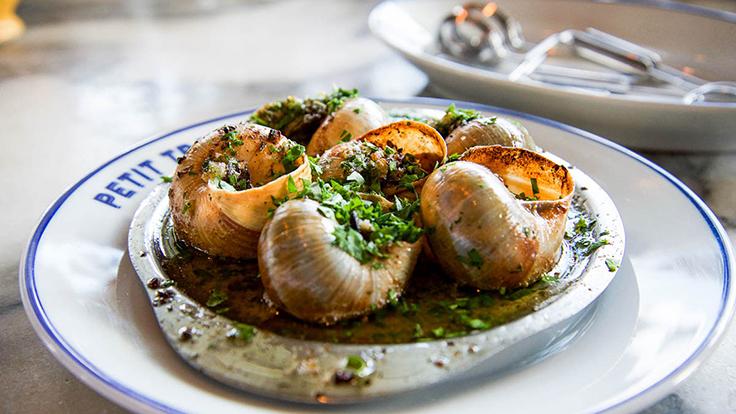 Petit trois' Burgundy escargots. Photo by Capra Photography, courtesy of Petit Trois