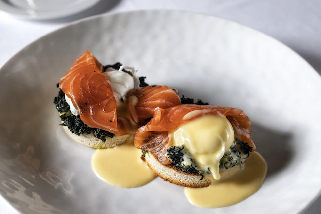 Spruce's salmon Benedict. Photo courtesy Spruce