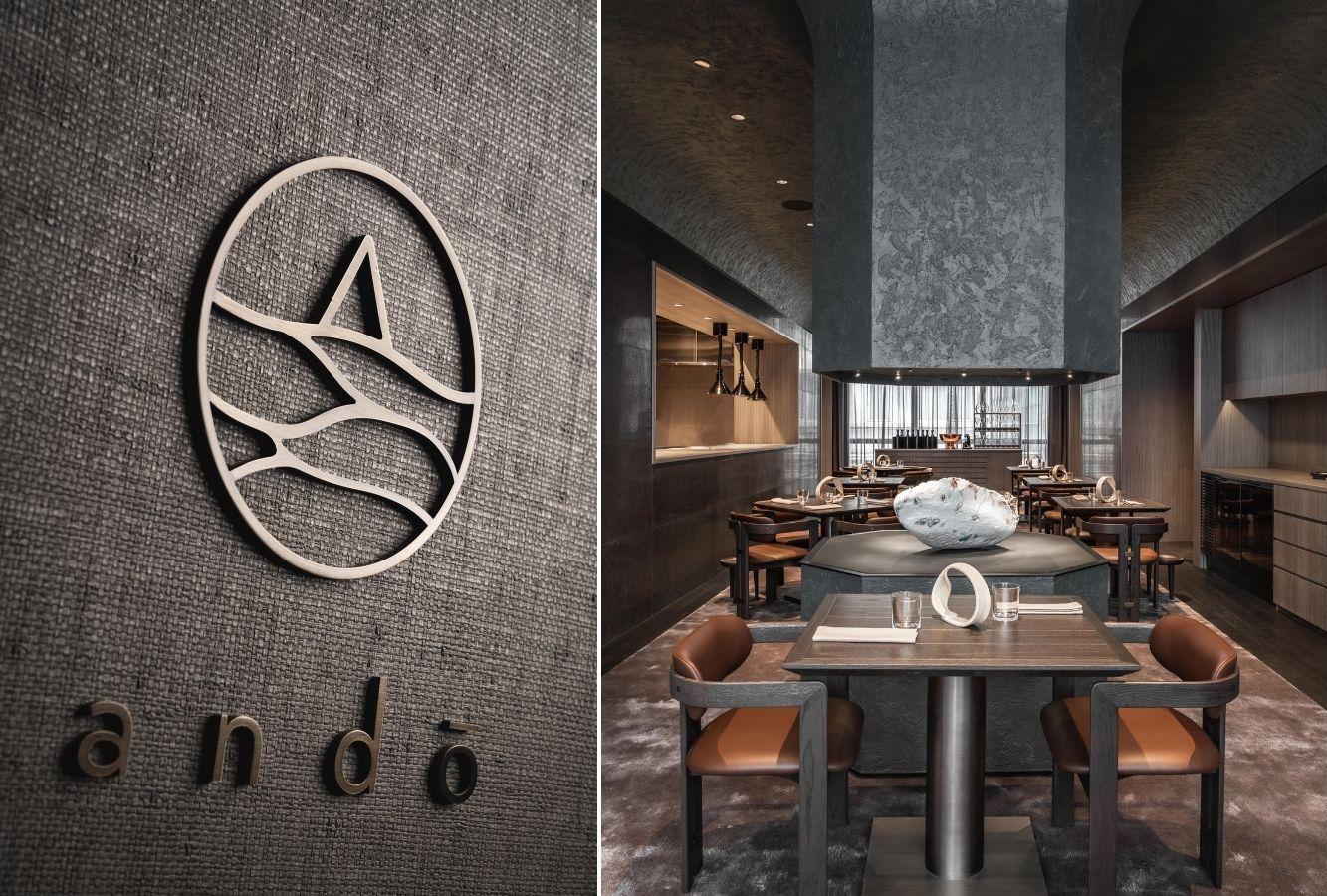 Ando's logo and interior. (Photo: Ando)