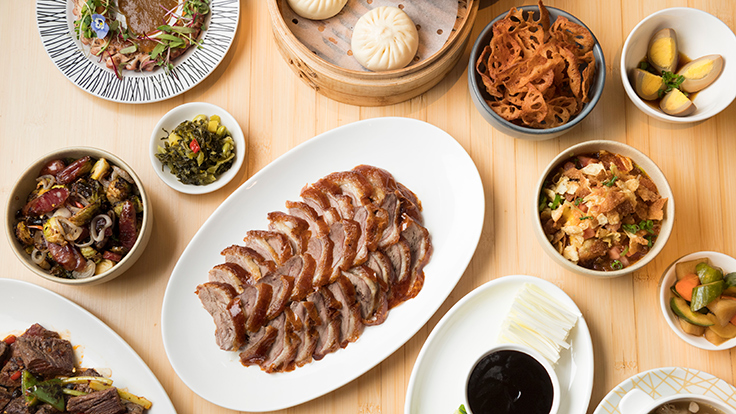 Variety of dishes at Pinch Chinese. Photo by Evan Sung, courtesy of Pinch Chinese
