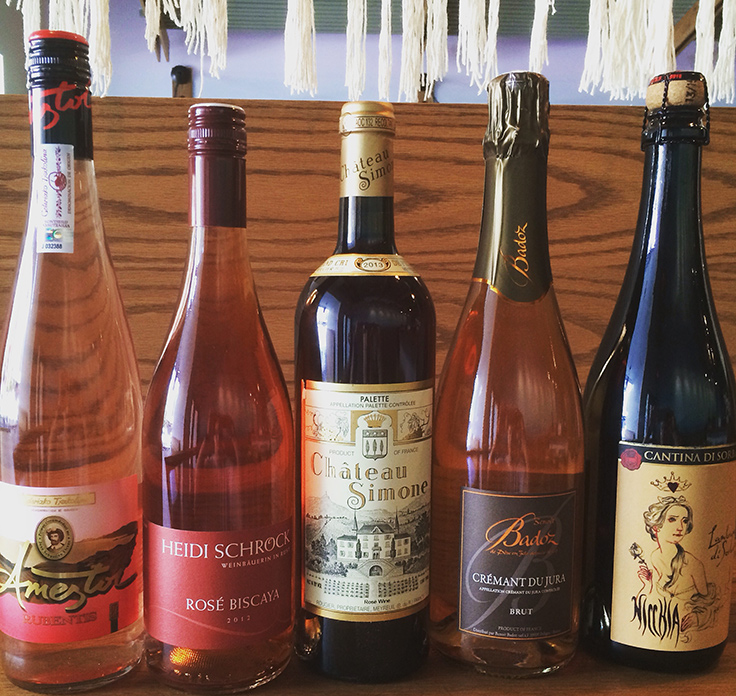 Tail Up Goat's rosé line-up. Photo courtesy of Tail Up Goat