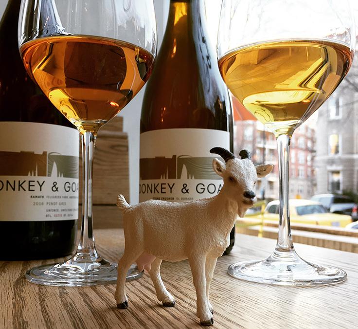 Donkey & Goat bottles. Photo courtesy of Tail Up Goat