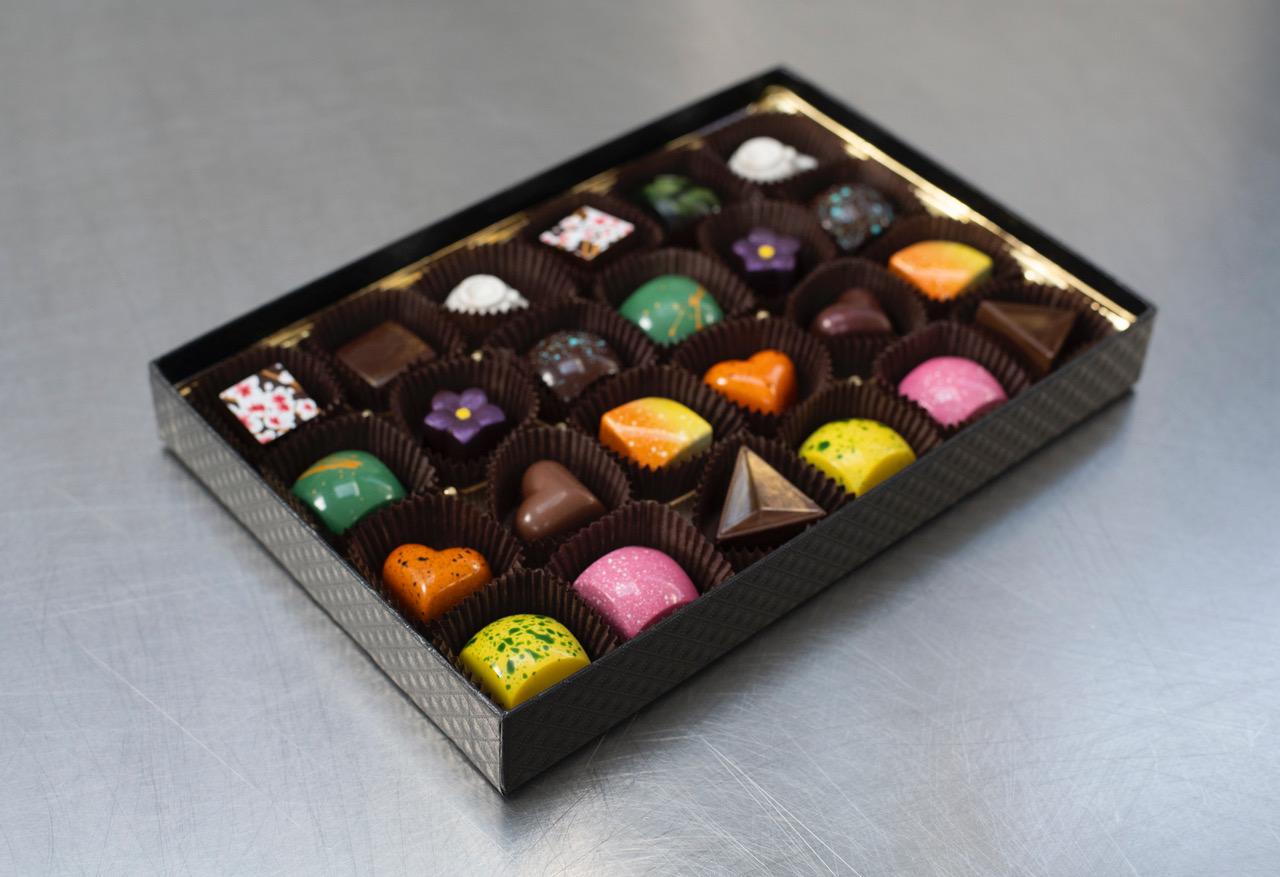 Formosa Chocolates' 24-piece box. Photo by Adahlia Cole