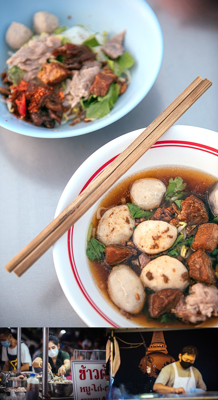 Variety of food available at the market. (© Anuwat Senivansa Na Ayudhya / MICHELIN Guide Thailand)