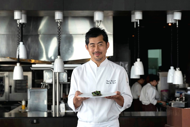 Chef Ryuki Kawasaki of Two MICHELIN Starred Mezzaluna. (© Mezzaluna)