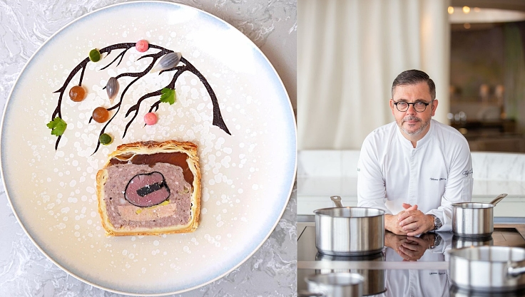 The beautiful pâté en croûte by Chef Vincent Thierry. (© Chef's Table)