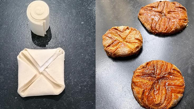 Avant et après cuisson : admirez le feuilletage... ©La Pomme d'Api