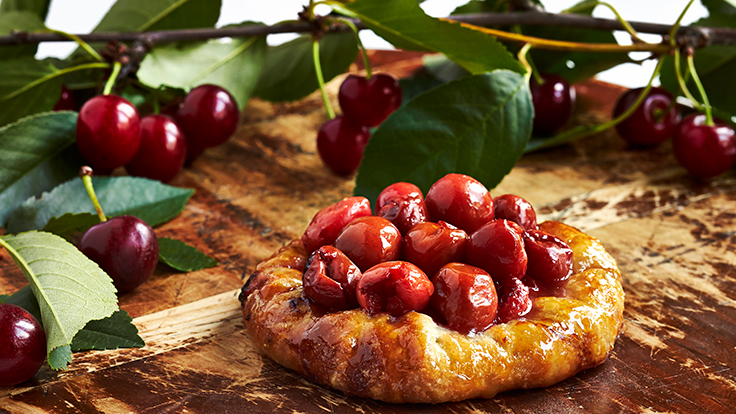 Cherry tart using the fruits from the orchard. Photo courtesy of The Inn at Little Washington