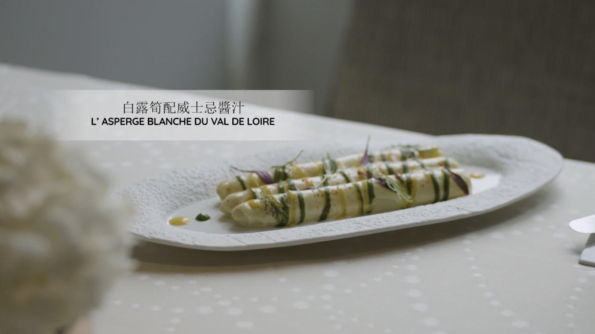 Warm French white asparagus & single malt Islay dressing
