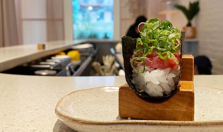 Nami Nori's toro & scallion. Photo by Michelin North America