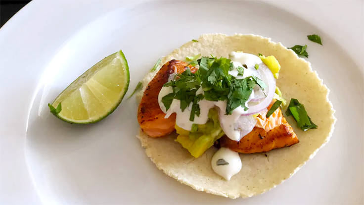 La Viga's salmon taco. Photo by Michelin North America