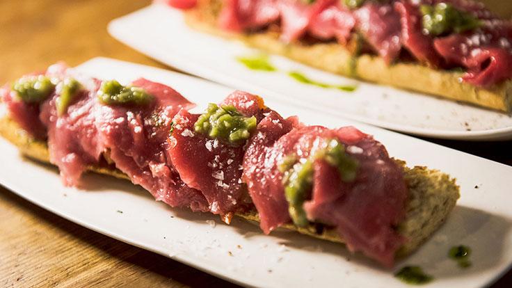 Catalana de atún rojo con wasabi. © Salva González/Open