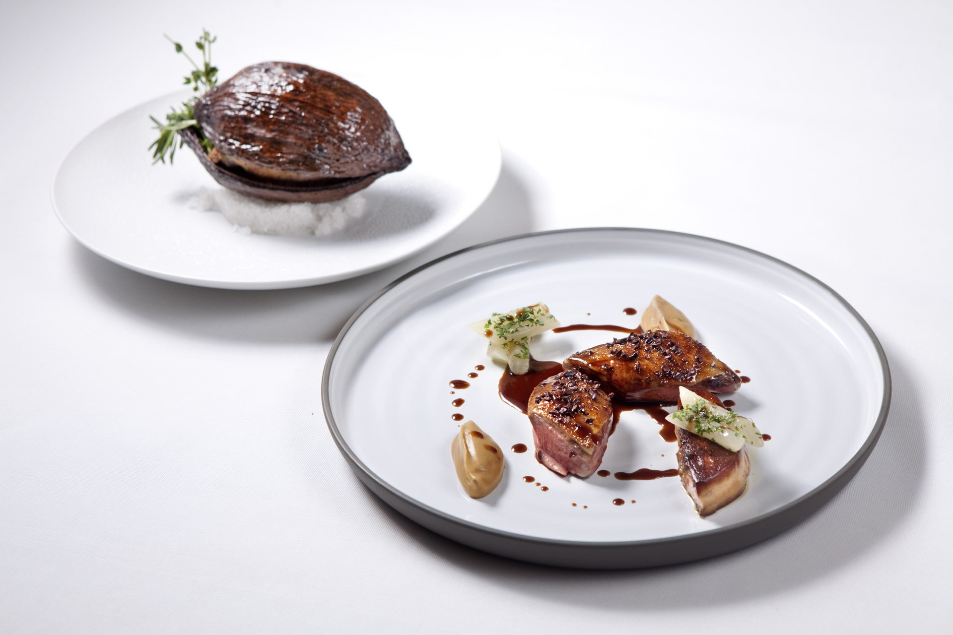 Caprice's Racan pigeon cooked in a cocoa pod (Photo: Courtesy of Caprice)