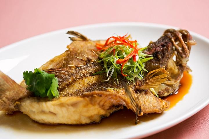 國賓粵菜廳的油浸野生紅條。(圖片:國賓粵菜廳提供)